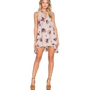 FREE PEOPLE Tree Swing Dress in Washed Stone Combo